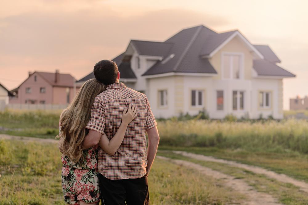 マイホームを購入した夫婦
