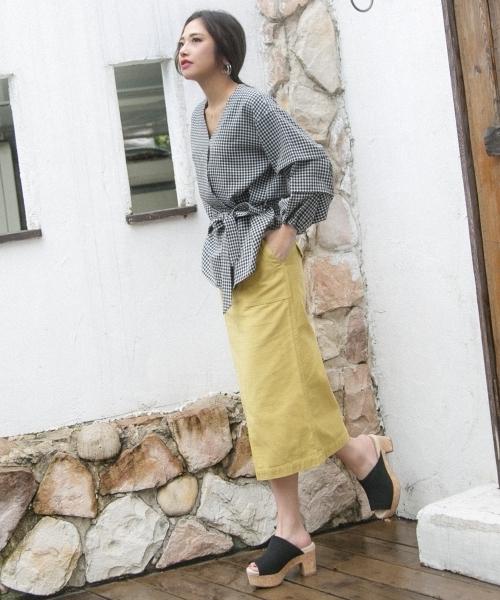 OZOC(オゾック)バーカーナロースカート