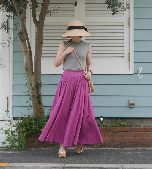 ピンクマキシスカート