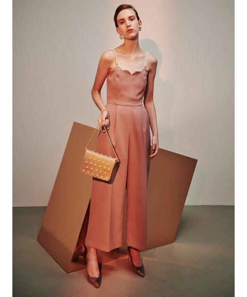 スカラップベアパンツドレス