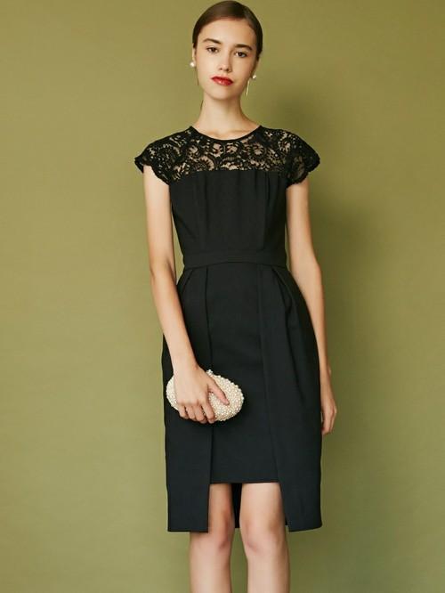 LADY Gapレングススカラップドレス