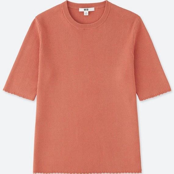 UNIQLO UVカットリブクルーネックセーター