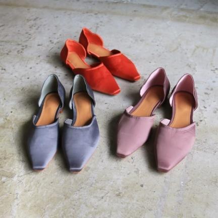 Satin Flat Shoes