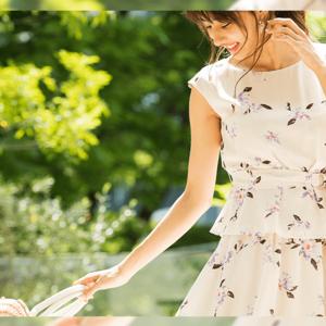 愛甲千笑美が着こなす、初夏のフェミニンLOOK6