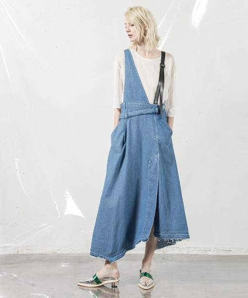 テンセルリメイクデニムジャンパースカート