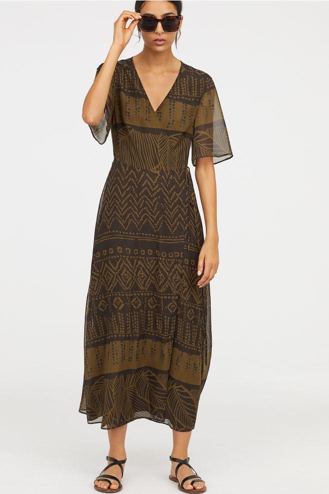 ロングラップドレス