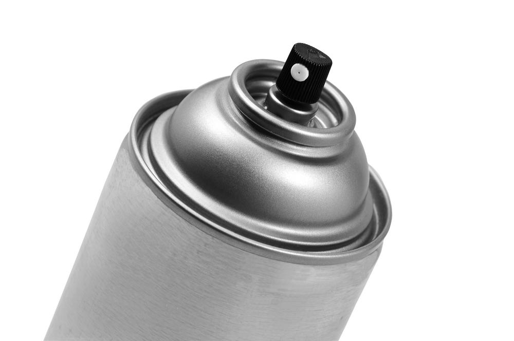 灰色のスプレー缶
