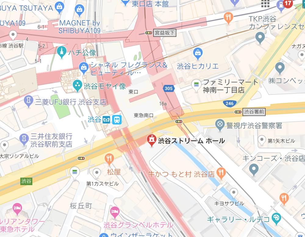渋谷ストリーム地図
