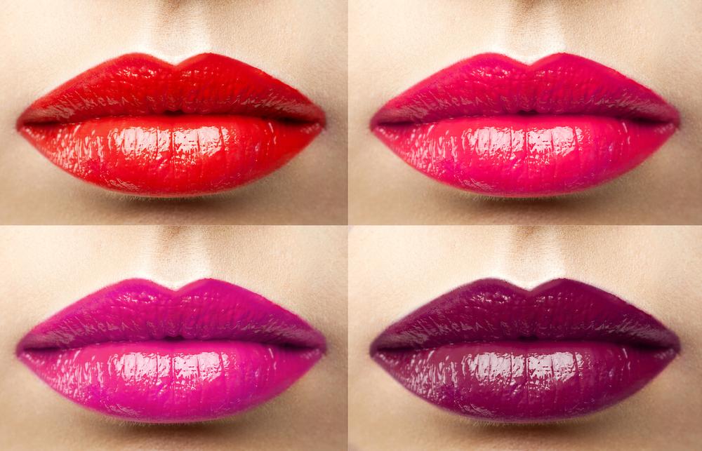 リップカラーを塗った唇