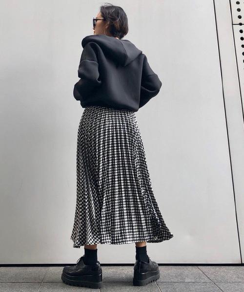 千鳥格子スカート