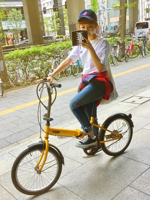 春のサイクリングの服装