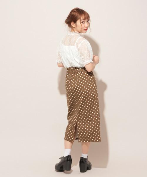 apres jour CONYドットナロースカート【ZOZOTOWN限定アイテム】