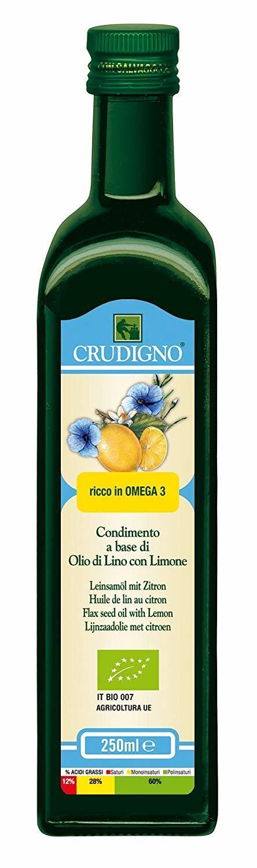 CRUDIGNO イタリア産有機アマニオイル レモンフレーバー