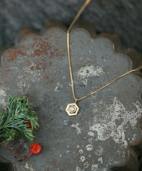 Cayof(カヨフ)K10イエローゴールド ダイヤモンド ネックレス
