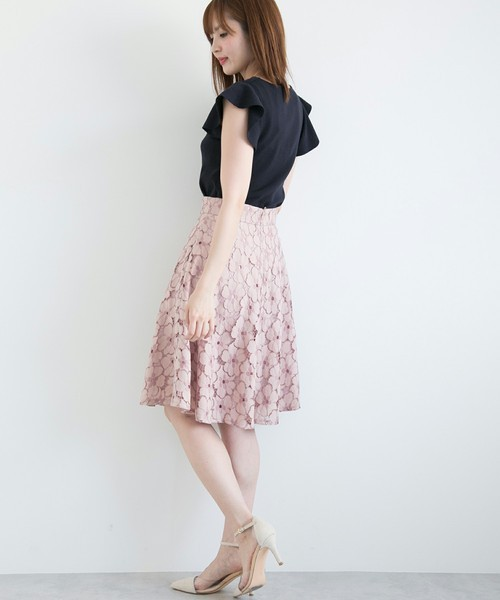 PROPORTION BODY DRESSING ツートーンフレアースカート