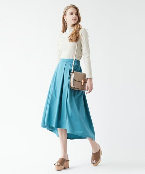 titivate 【andGIRL4月号掲載】イレギュラーヘムタックフレアスカート