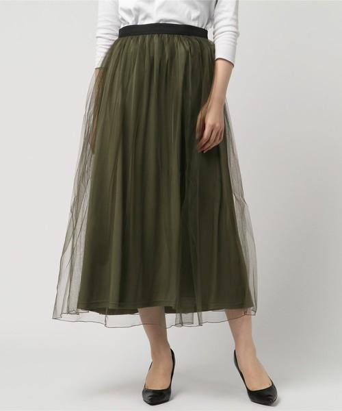 カーキのスカート