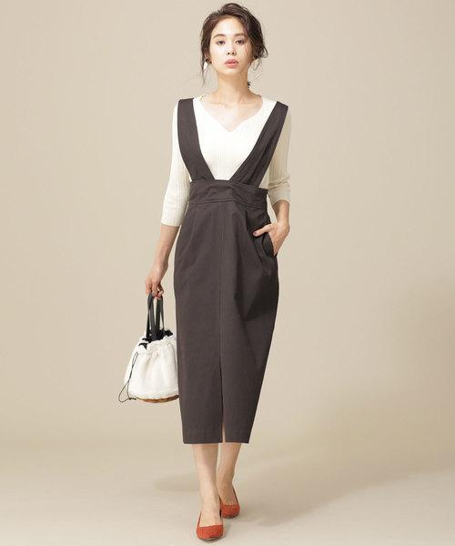 2wayAラインジャンパースカート