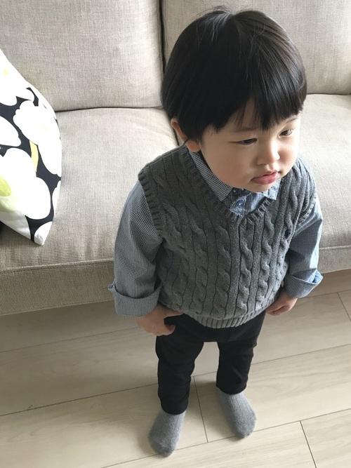 幼児の法事の服