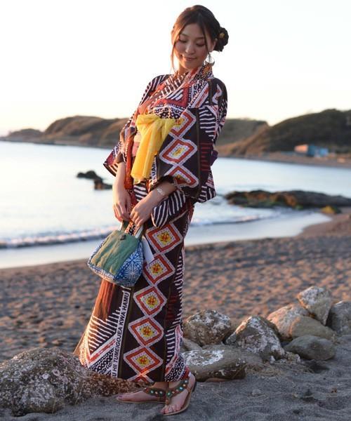 【チャイハネ】AFRICANカンガ柄セパレート浴衣