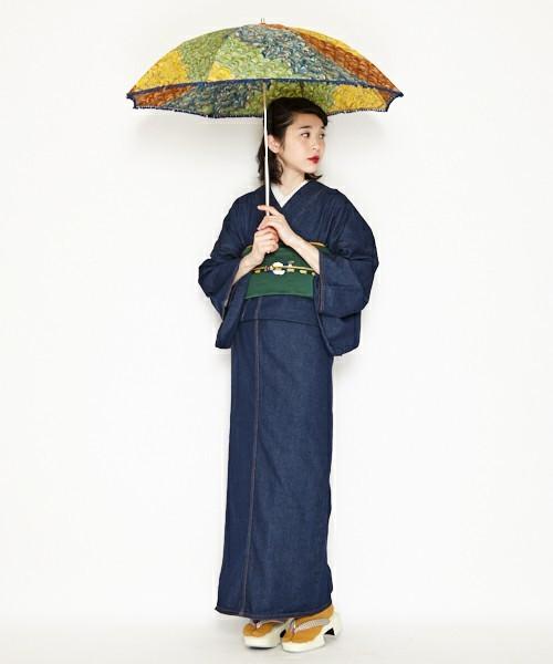 マーブル折りたたみ日傘