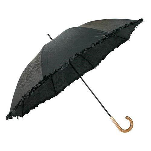 木目調日傘フリル