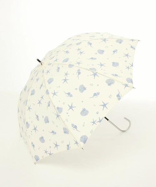 サマーモチーフ柄晴雨兼用長傘 日傘